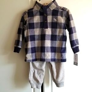 Carter's toddler boys fleece outfit